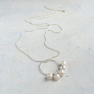 Long pearl pendant