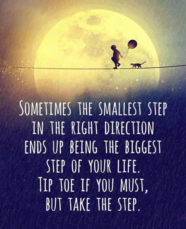 Take a small step