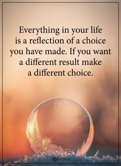 Make a different choice
